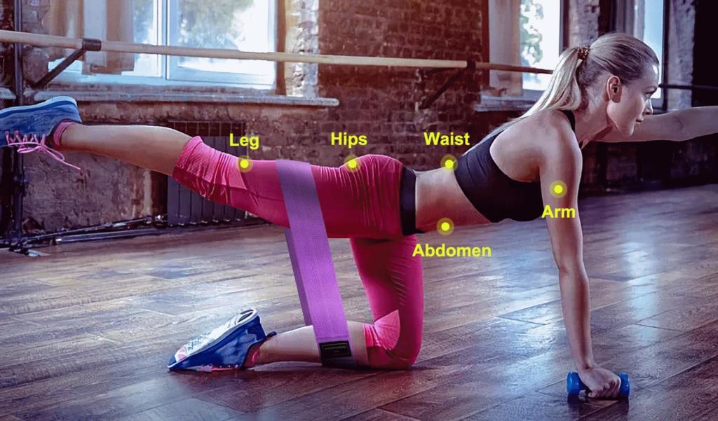 bandas elasticas WOTEK para entrenamiento de fuerza, yoga y pilates